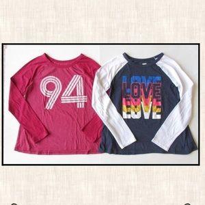 Old Navy XL 14 Red 94 Baseball Blue Love Shirt Lot